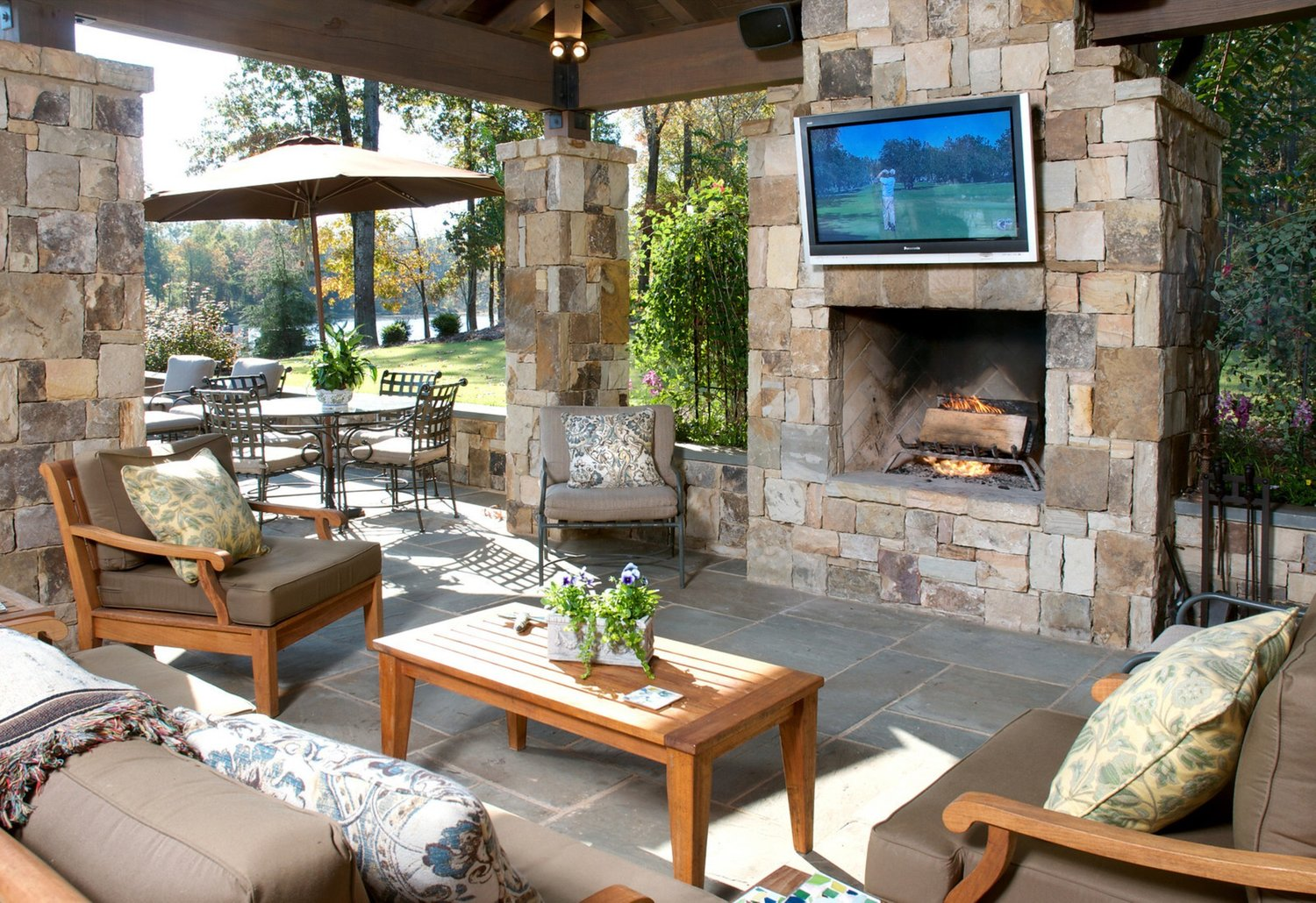 Outdoor Living Room Designs Ideas For Football Partys Wildwood Land Design
