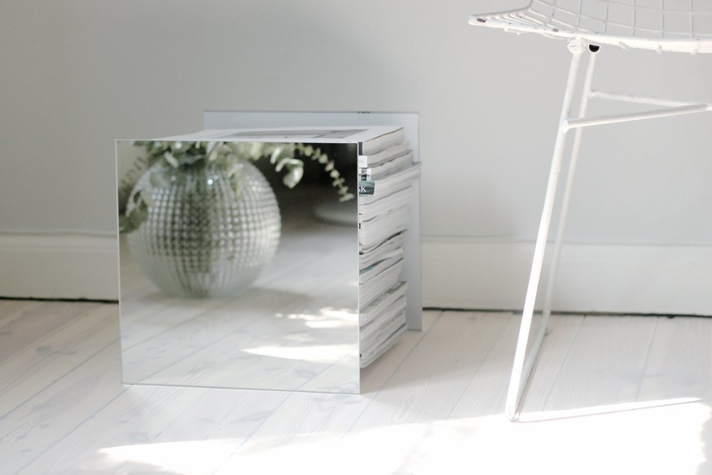 Photo by Lovisa Häger, An Interior Affair. More of this DIY Mirror Magazine Stand can be found here!