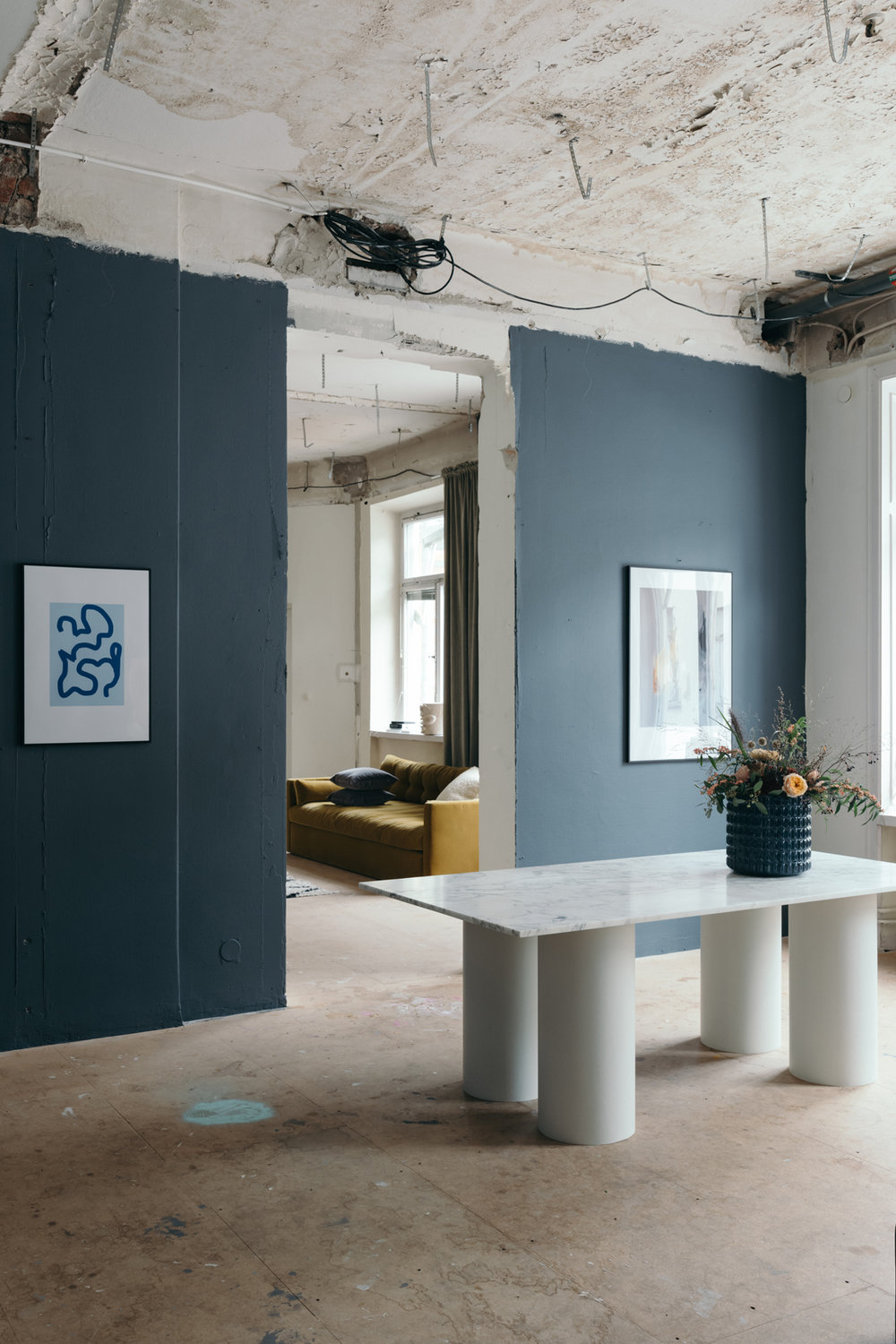 Exhibition 'Colorful Studio' for Wall of Art.  Concept and Interior Design. Photo by Jesper Florbrant.