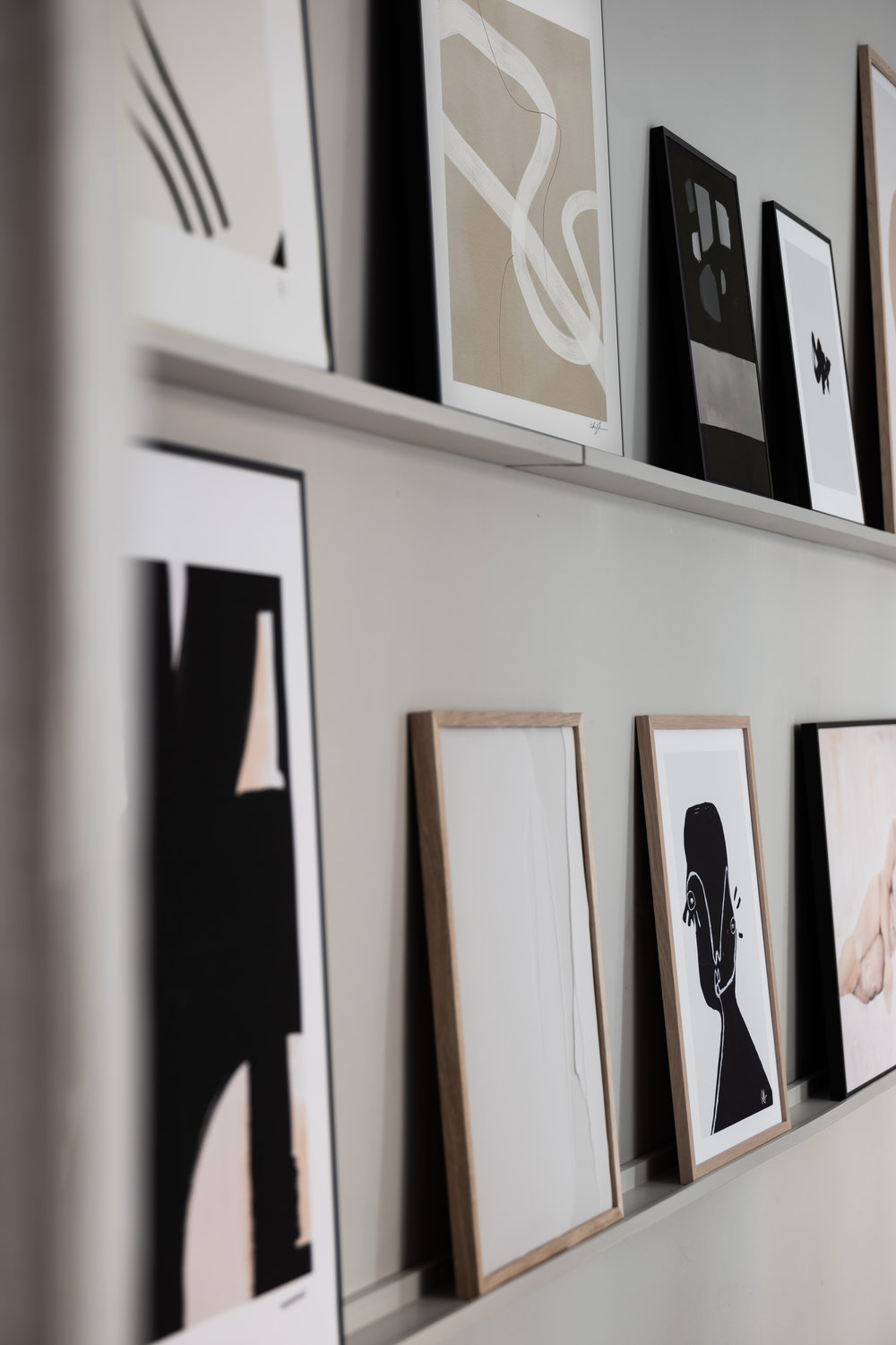 Wall of Art Studio.  Office and showroom in Vasastan, Stockholm for Wall of Art. Interior design by Lovisa Häger, photography by Jesper Florbrant.