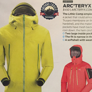 Arc'teryx Lithic Comp Jacket – Backcountry Magazine, Editors Choice 2015