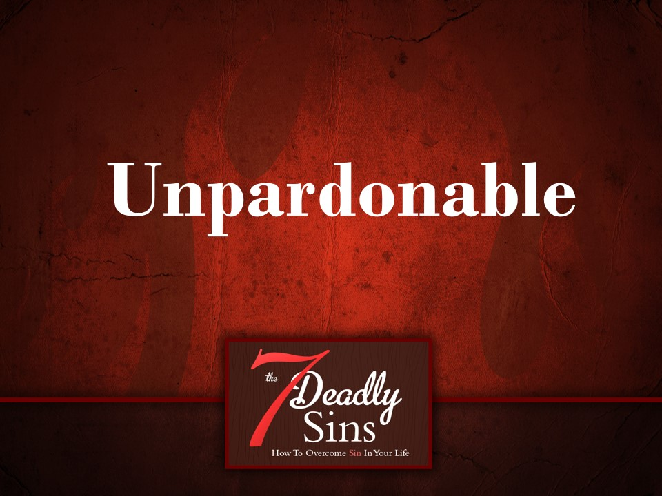 The Unpardonable Sin — ct   church