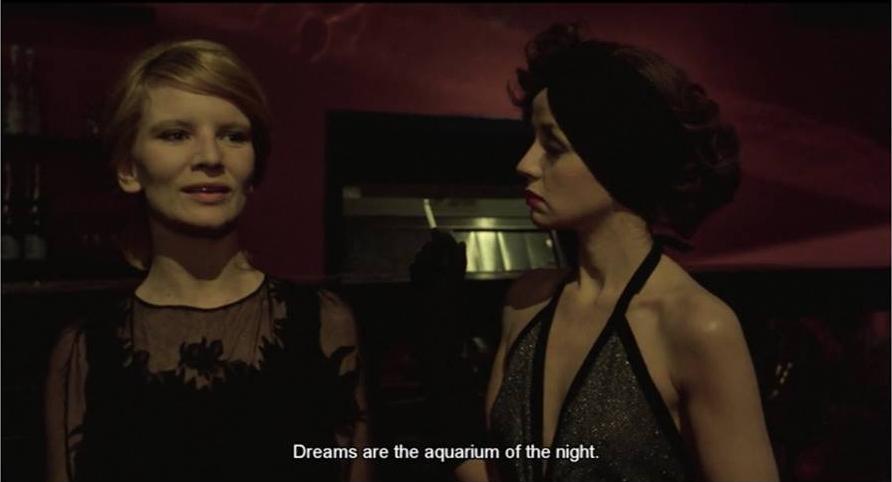 """Dreams are the aquarium of the night"": Nicole Garcia and Juliet Berto in Duelle(Jacques Rivette, co-written with Eduardo de Gregorio and Marilù Parolini, 1976)."