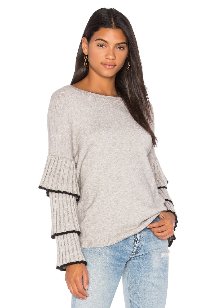 """Bourbon Street Ruffle Sleeve Sweater"" by Central Park West, as seen at revolve.com--  $136"
