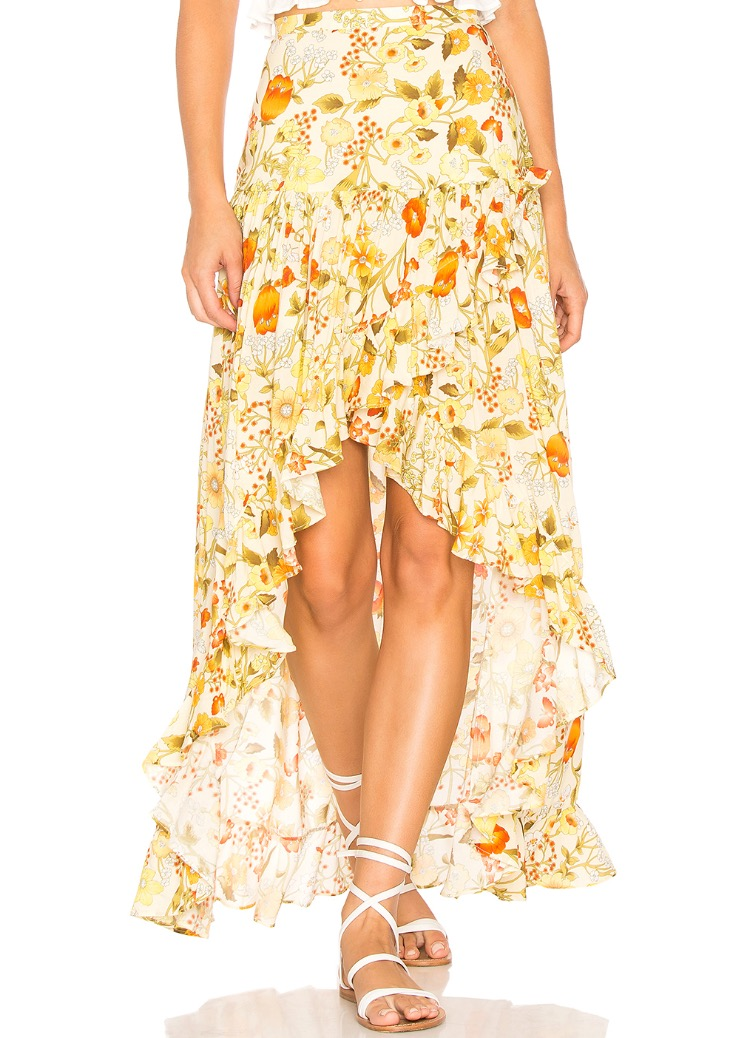 """Sayulita Frill Split Skirt"" by Spell & The Gypsy Collection, as seen at revolve.com --   $160"