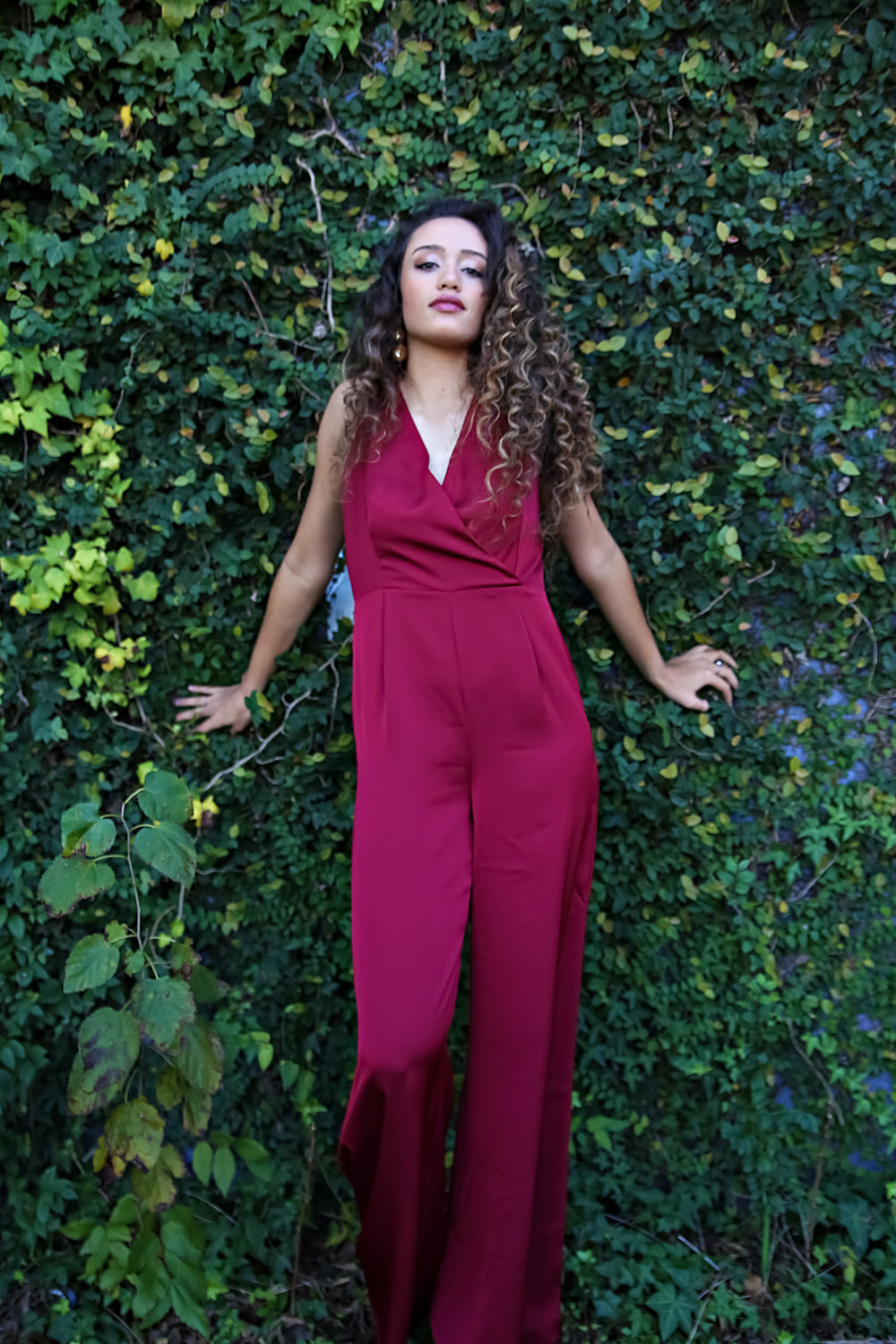 Sugar Lips/ Merry Berry Jumpsuit/ $64
