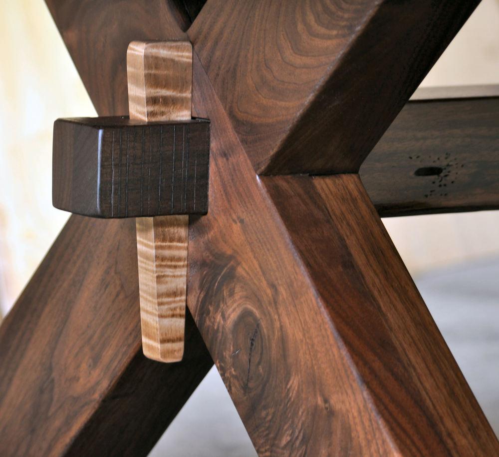 Rustic Wood Furniture Part - 33: Through Tenon Stretcher Key.jpg