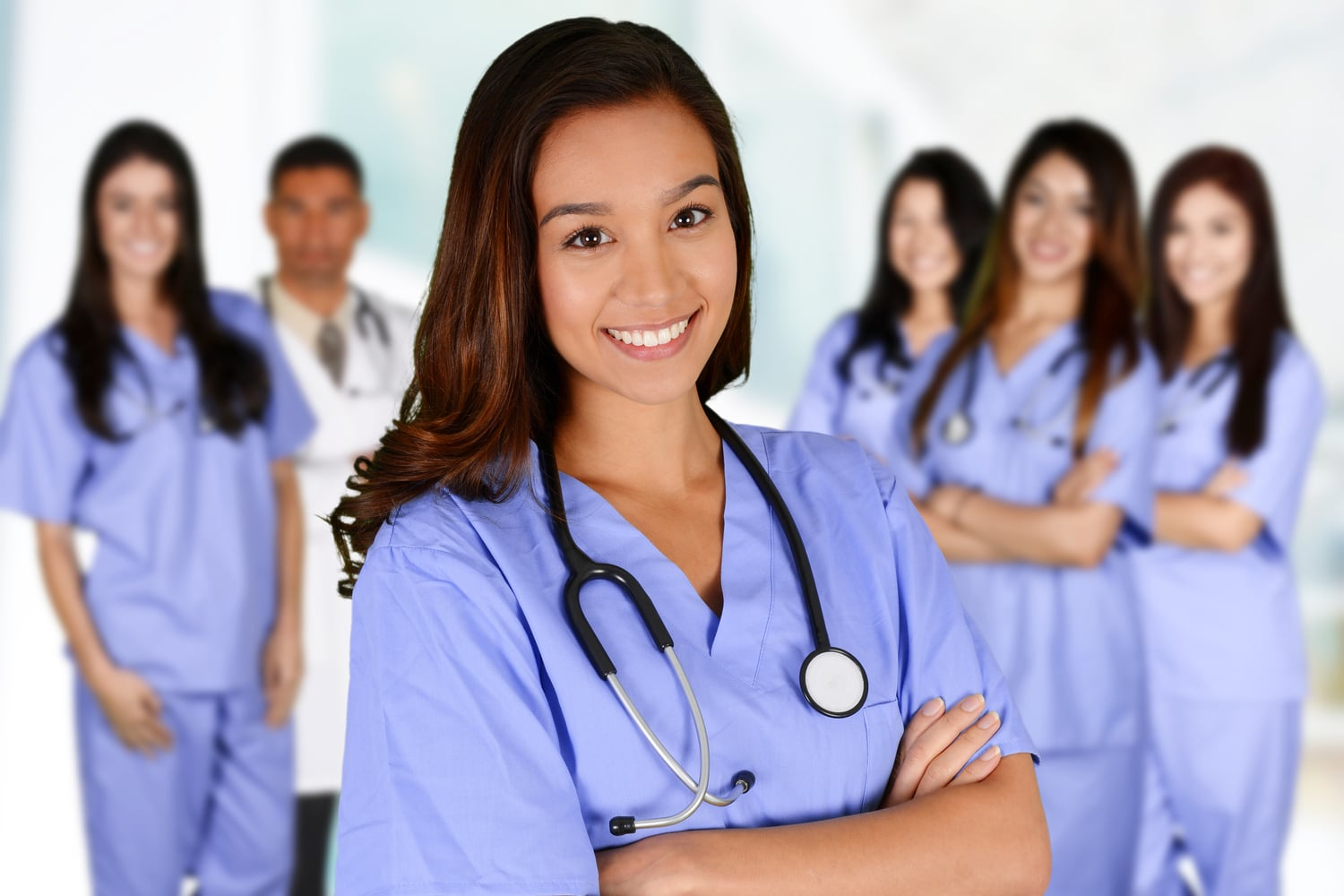 a group of nursing students