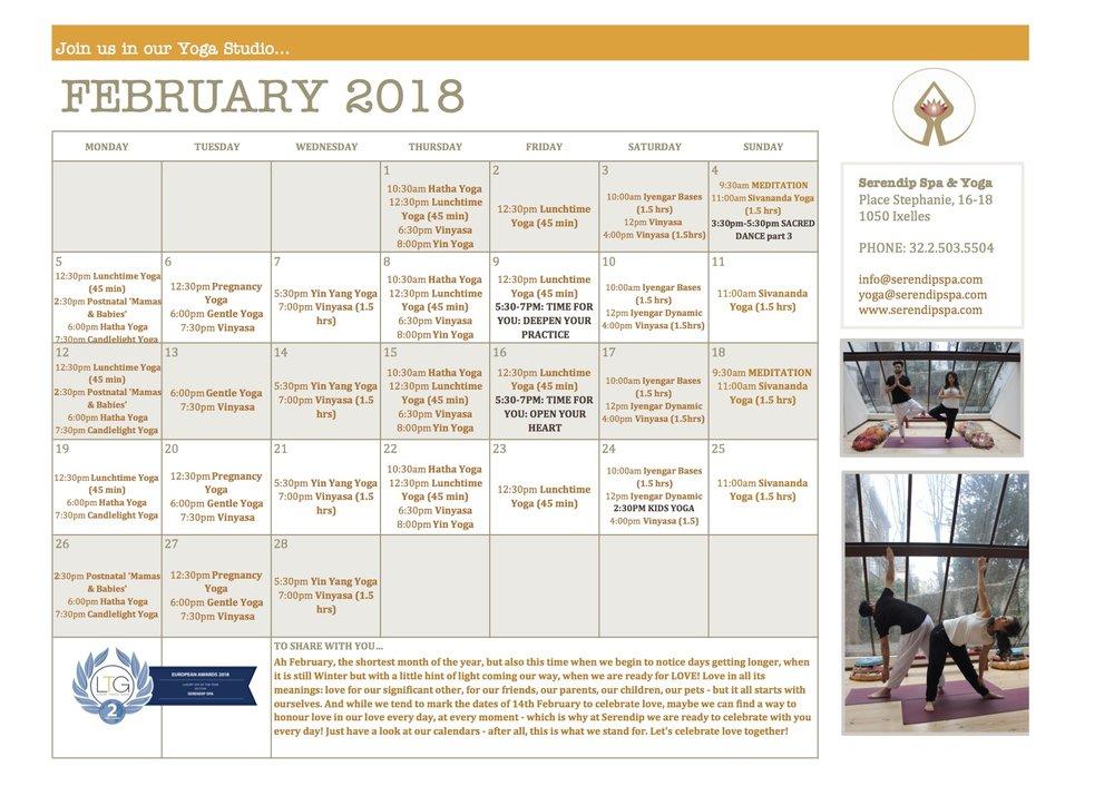 serendip spa and yoga calendar 2018_A4 February FRONT.jpg