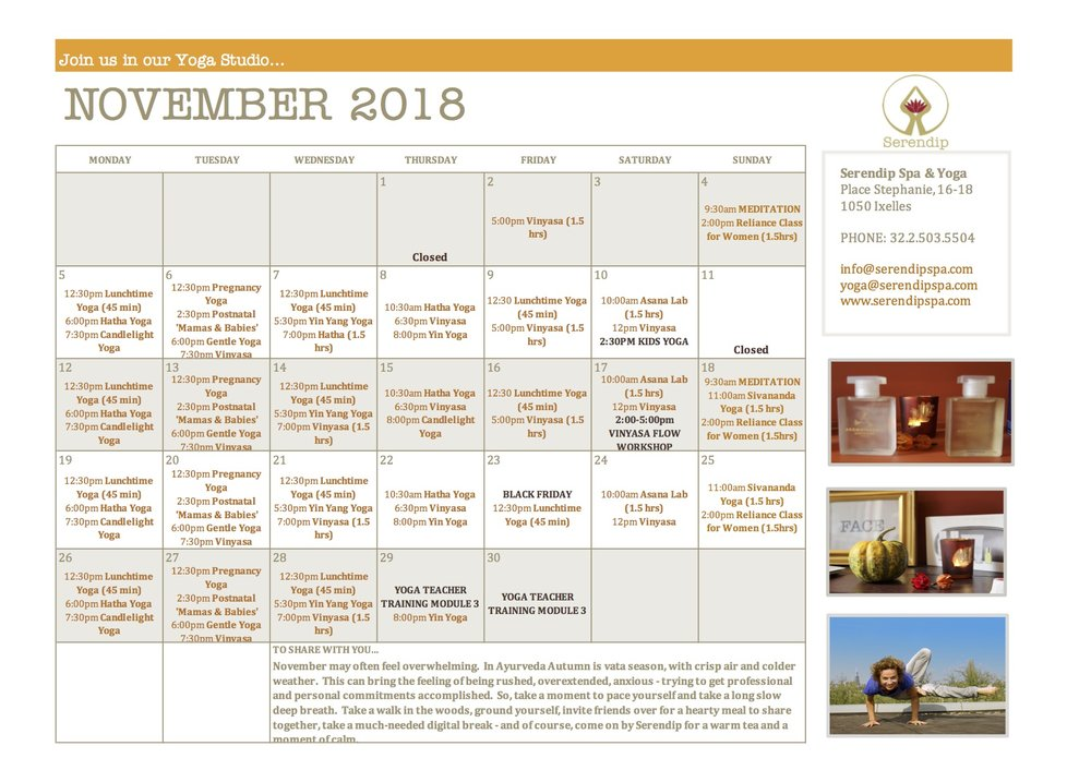 serendip spa and yoga calendar 2018_November A4 FRONT.jpg