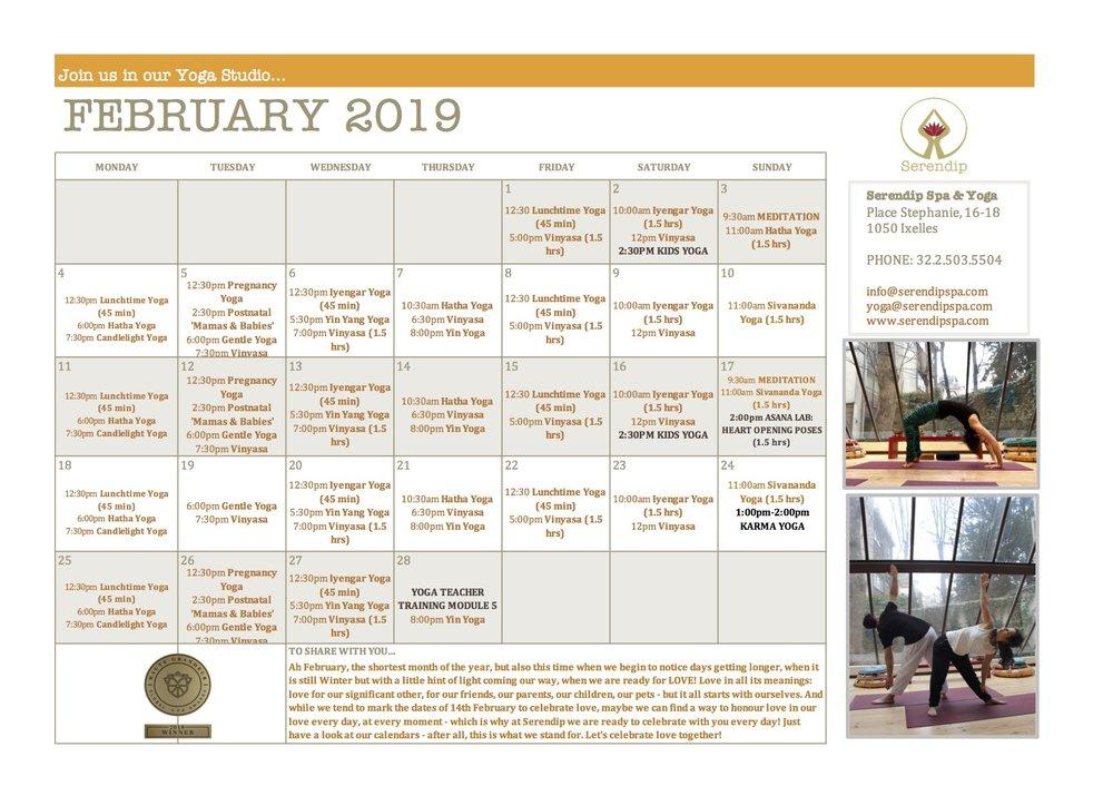 serendip spa and yoga calendar 2019_ February A4 FRONT.jpg