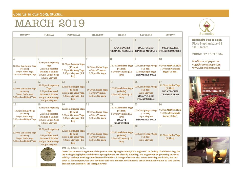 serendip spa and yoga calendar 2019_March A4 FRONT.jpg