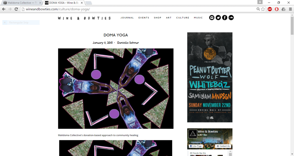 Doma Yoga Feature : WINE & BOWTIES