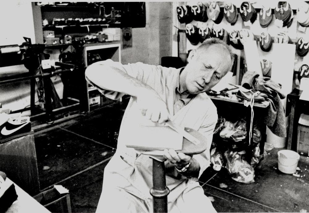 Bowerman at the Nike Eugene, Oregon Lab circa 1980. Credit: Nike