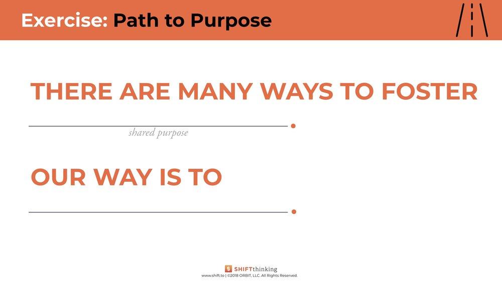 Worksheet: Path to Purpose worksheet