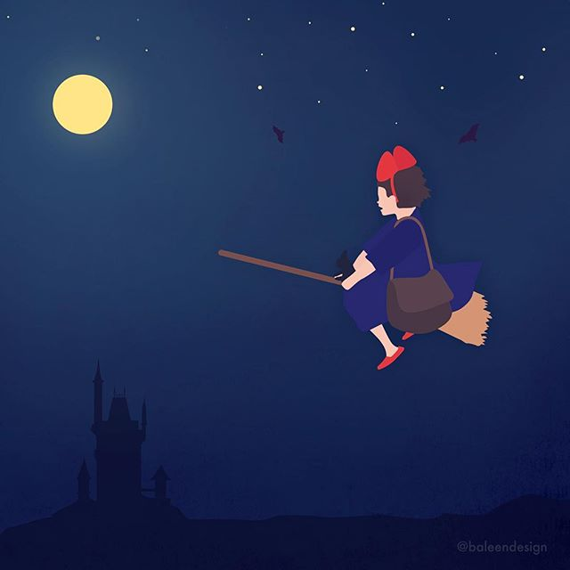 Happy Halloween 🎃 🎨 👻 Watching Kiki's Delivery Service is a Halloween Tradition of ours. What are your fav movies to watch this time of year? . . #kikisdeliveryservice #witch . . . . . . . . . . . . . . . . .  #graphicdesign #illustration #photoshop #vectorart #flatdesign #digitalillustration #digitalart #illustrator #graphicdesigner #illustrationart #graphicdesigndaily #illustrationdaily #gfx_daily #artist #childrensbookillustration #art #rvaart #designinspiration #designinspiration #thedesigntip #artinspiration #halloween #graphicdesigninspiration #pixel #digitalpainting #dailydesignpick #hayaomiyazaki #halloweenart #witchesofinstagram