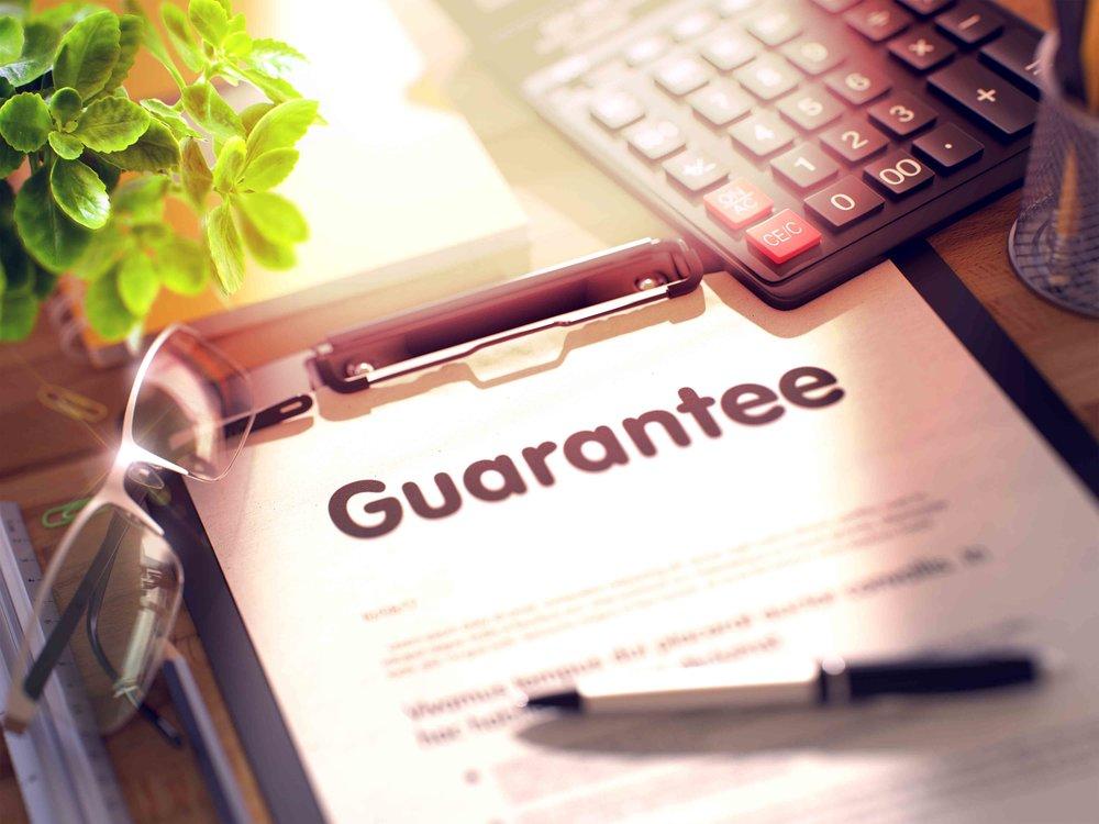 workmanship guarantee