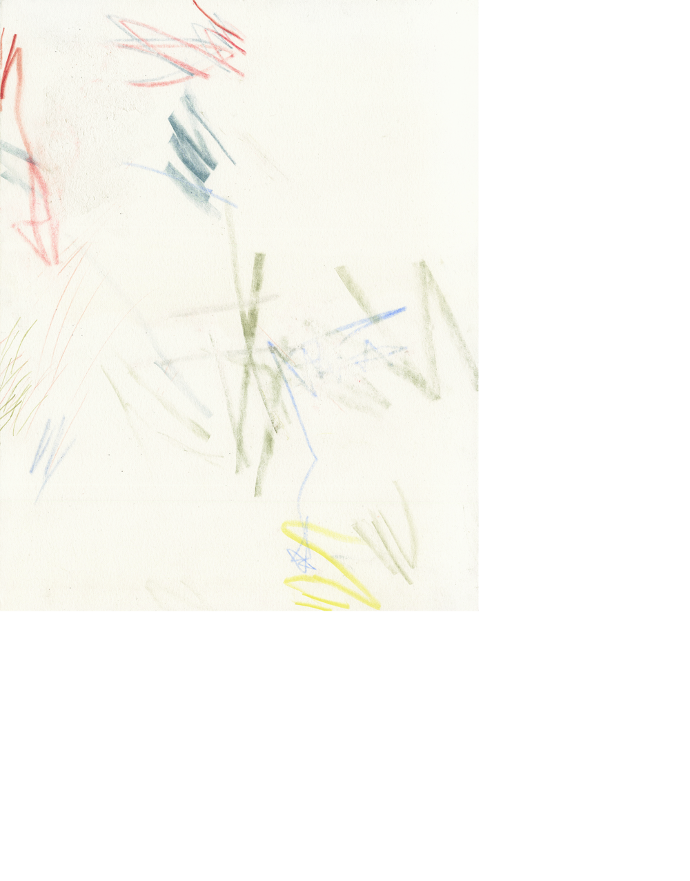 Untitled (cm.15.26), 2015   colored pencil, crayon on paper   14 x 11 inches