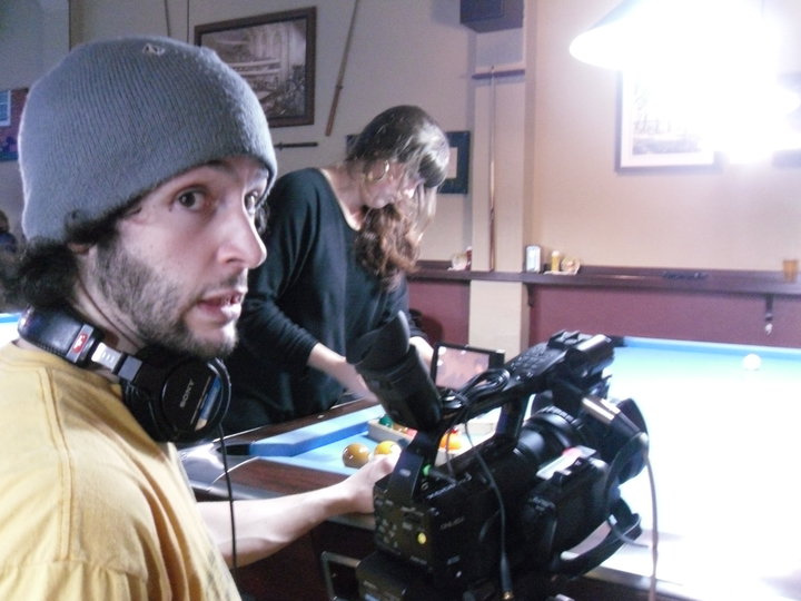 "On set of ""Downtown"" (2012)"