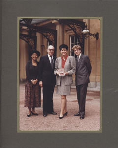 All dressed up at the palace for my O.B.E in 1989