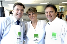Secretary of State Ed Balls with me and Raymond Blanc