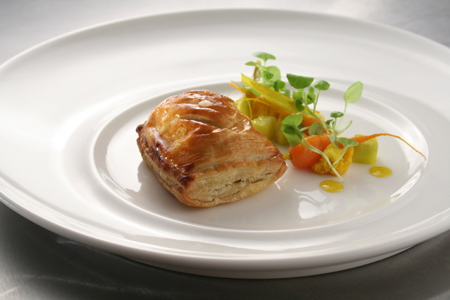 Lisa Allen - Wild rabbit leek turnover with piccalilli