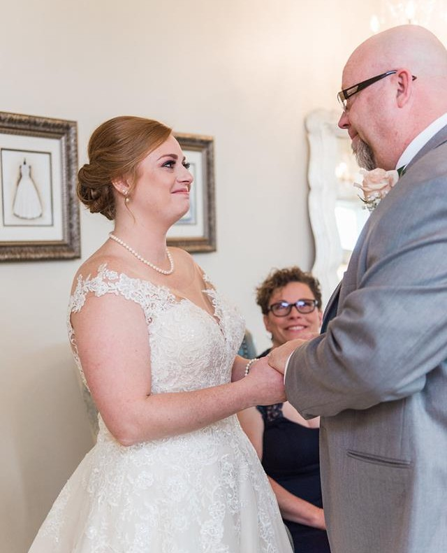 First looks are just as special for the father of the bride❤ 3/3 📸: @thomasrossphotography
