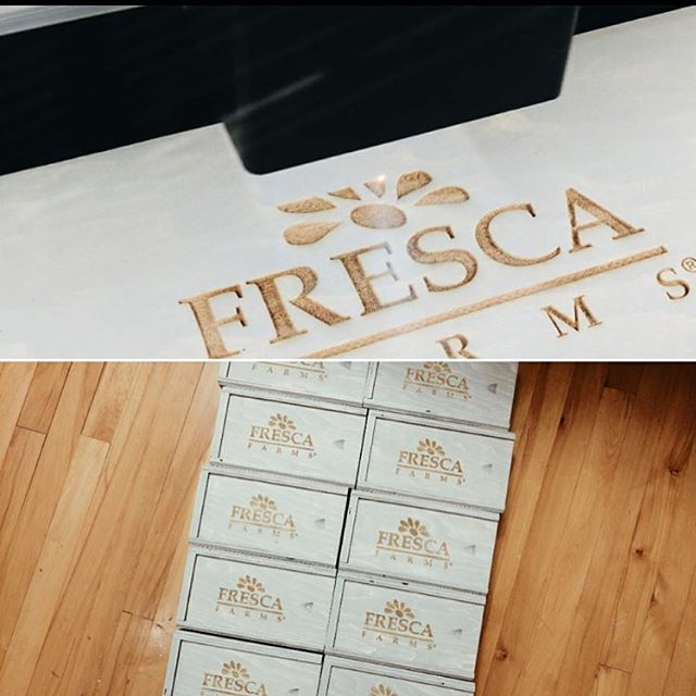 Had fun with these boxes for Fresca Farms! . . #customphotobox #weddingbox #custompromotions #promobox