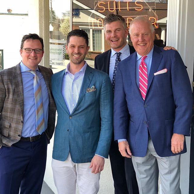 Always a great day when we have our guys Andrew and Greg from Peter Millar in the house. Our trunk show runs all day. Incredible spring and summer offerings and pre-order for fall and winter.