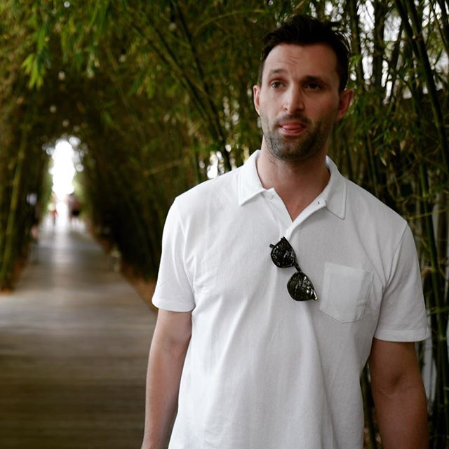 Sundays in Sunspel. Our good friend @richarde_pratt knows where to find the best polos in the world. Whether in Miami (as seen here) or any warm weather weekend this summer, the Riviera polo is simply perfect. Designed for James Bond, but made for everyone. Stop in to get yours this week.