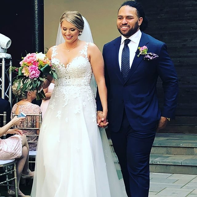 Walking into the week like... Congratulations to our guy @turbopat of @bridgebuilt on a beautiful wedding this past weekend. As a former collegiate athlete, premier fitness trainer, and builder of incredible custom gym equipment, Pat's physical frame needed a custom suit for his big day. Nothing better than seeing a happy client look so good.