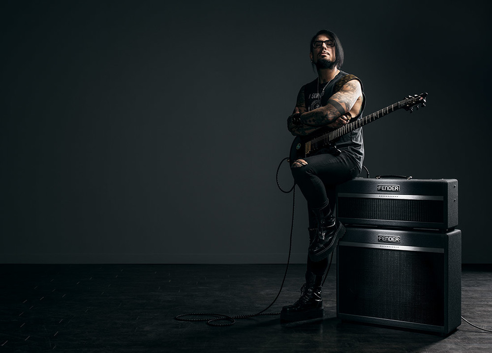 "Brand: Fender Creative Director: ""Dynamic Dynosaur"" (Dino Manual) Photography: Dominic Cooley Location: Los Angeles, Studio"