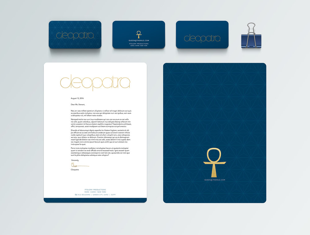 cleopatra brand identity package