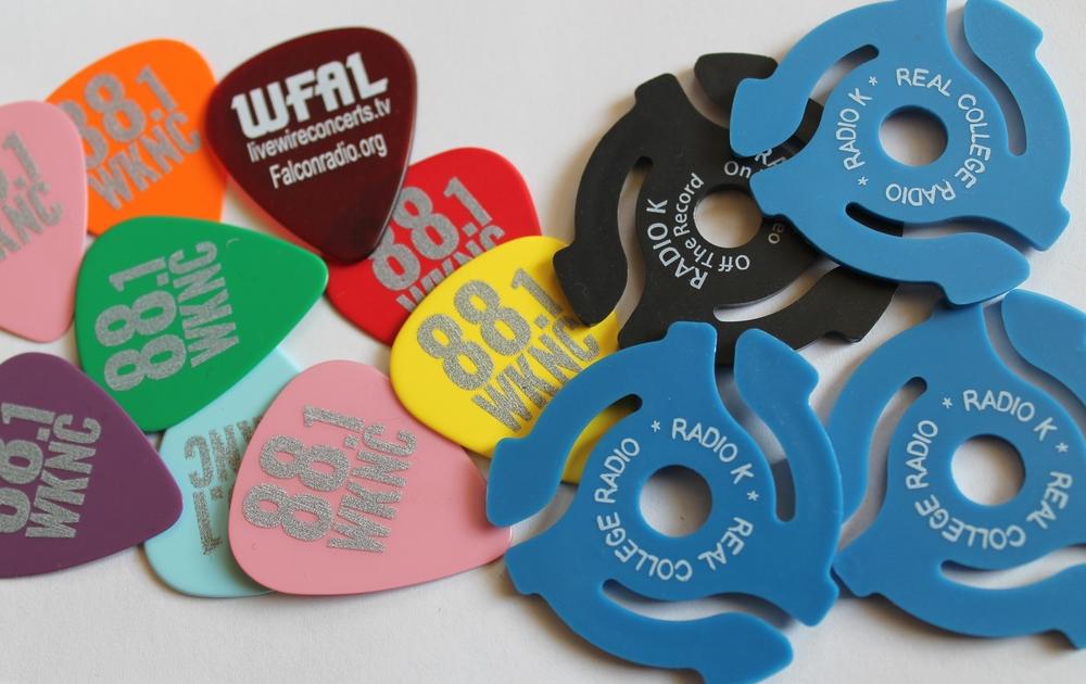 College radio trinkets. Photo: J. Waits