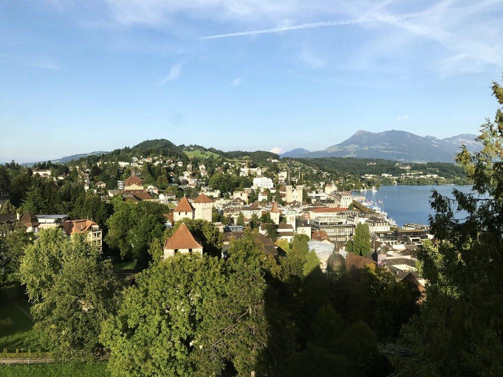 A view from Luzern, Switzerland