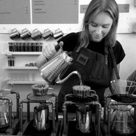 Linnea Vannesjö  is the 2015 Swedish Barista Champion. She worked as a barista and an educator at Drop Coffee. She has been a member of the Swedish National Barista Team.