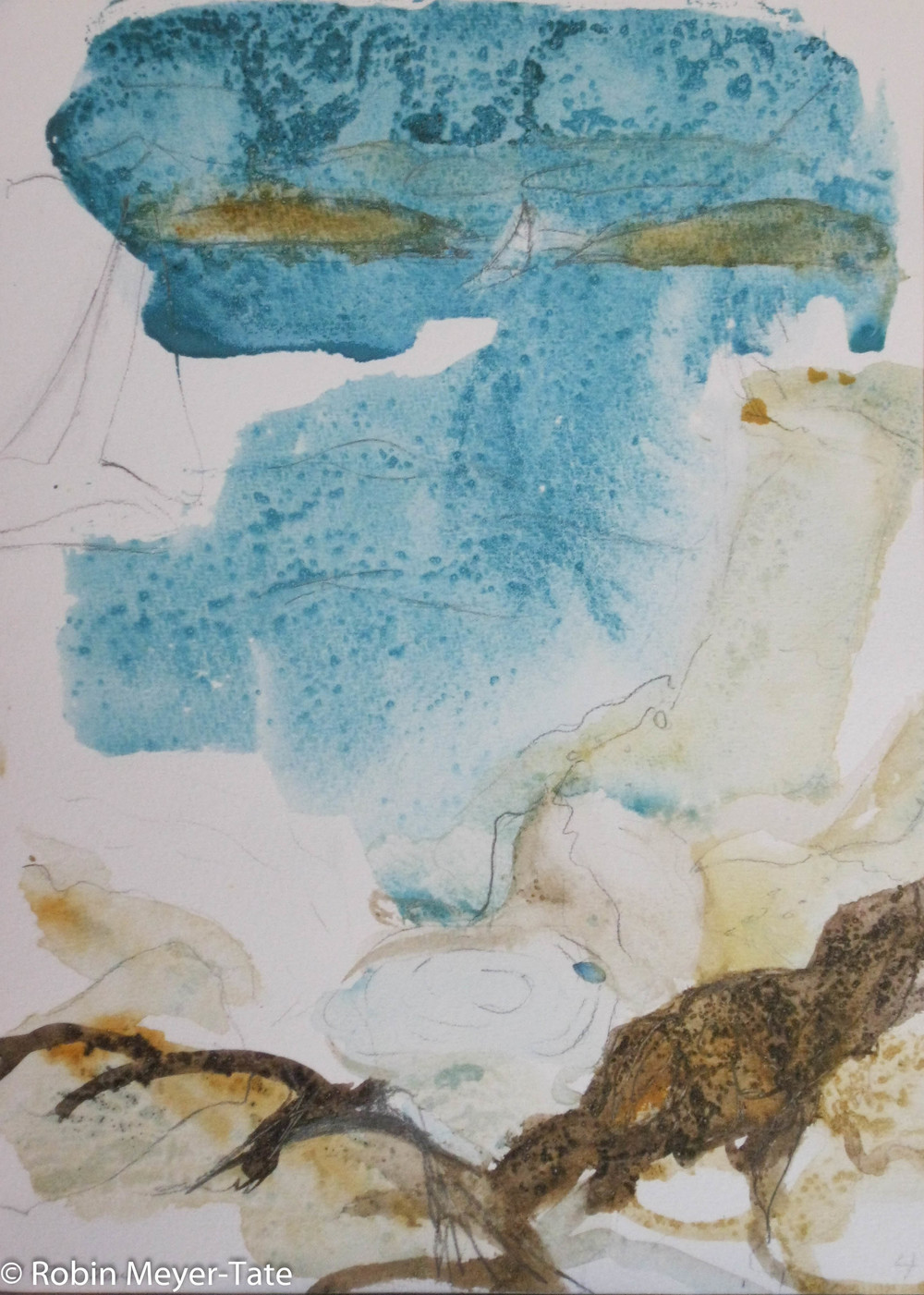 """Watercolor  9"""" x 7"""""""