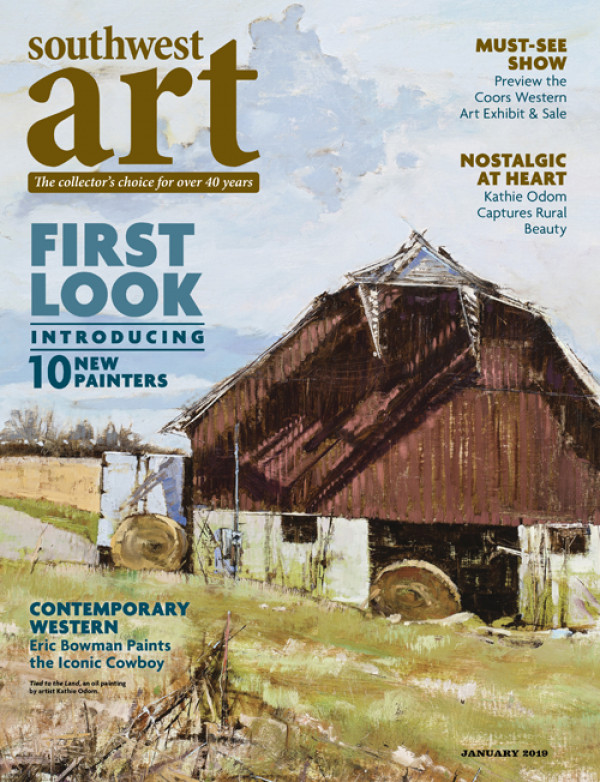 "SouthWest Art Magazine, "" Artists Magazine Annual Competition Winners/Finalists "" article January 2019"
