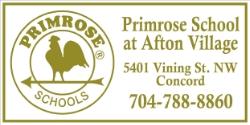 The Primrose School at Afton Village   5401 Vining St. NW Concord, NC 28027 704.788.8860   www.primroseschools.com/schools/afton-village