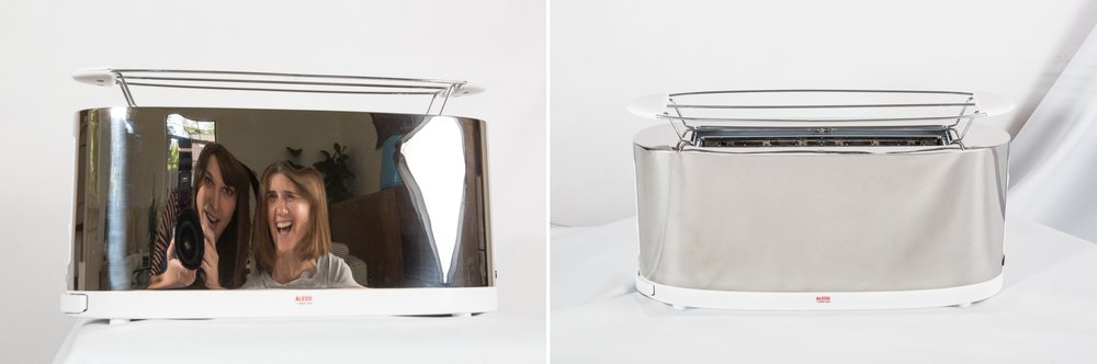 Let's just say some things are easier to photograph than others!  Toasters that look like fun mirrors don't fall into the easy category.