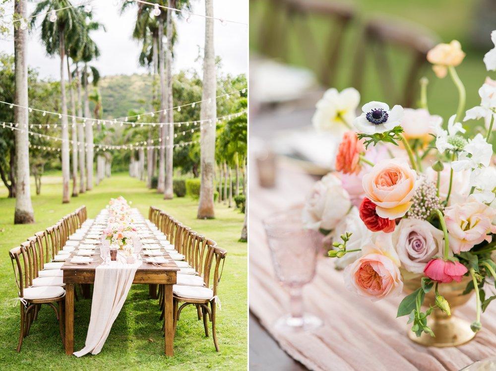 Hawaii Wedding_Dillingham Ranch_Reception Table