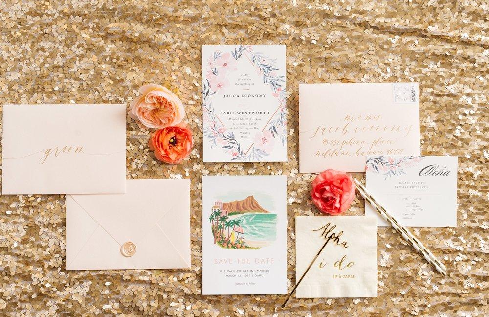 Hawaii Wedding_Dillingham Ranch_Invitations