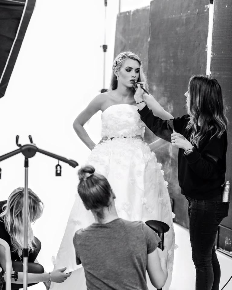 Behind the scenes at the look book photo shoot.
