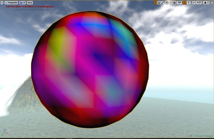 RBG vertex color mode on