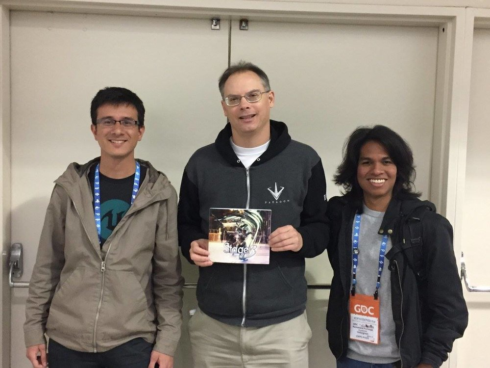 We managed to show the brochure we made to Tim Sweeney!