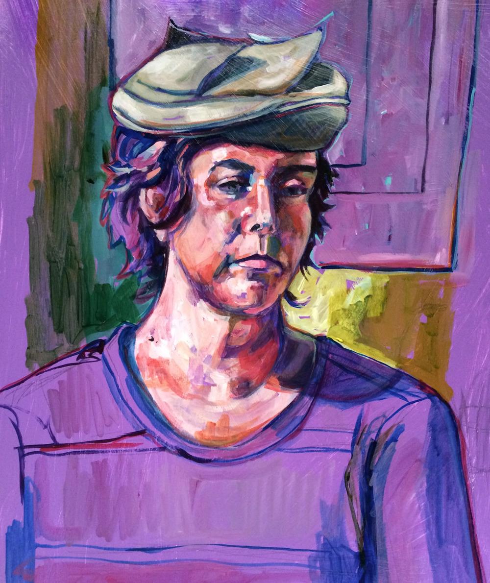 Mary. Painted October 14, 2014. Acrylic on paper. #bayareafigurepainting