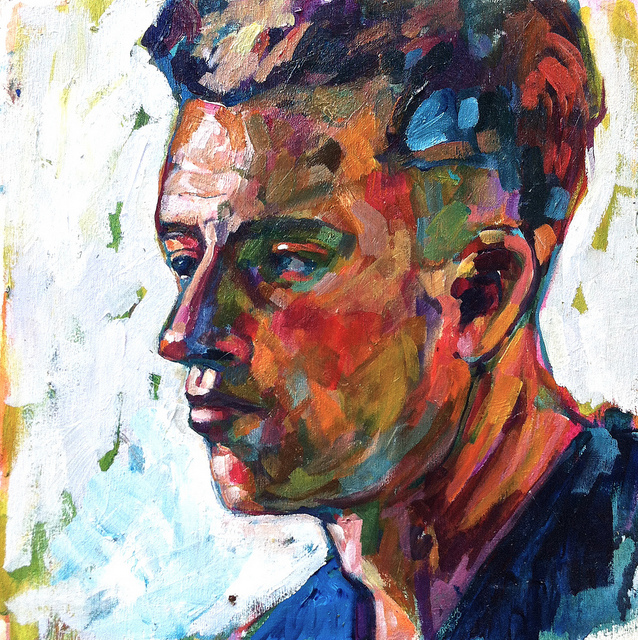 Tyler on Flickr. Tyler on Wood Panel, Painted Tuesday November 19, Berkeley, CA 10 x 10 inches.