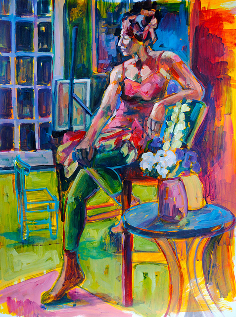 Karen  on Flickr.  Last night I painted Karen on Bristol board.