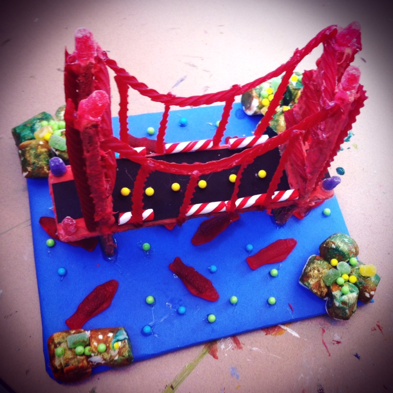 "Gingerbread ""house"" competition: Golden Gate Bridge"