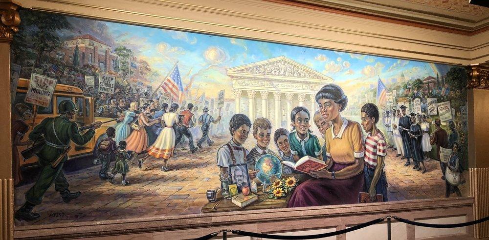 Brown v Board of Education Mural, Kansas State Capitol